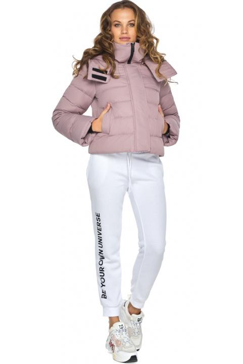 Модна осіння куртка на дівчинку пудрова модель 21470 Youth фото 1