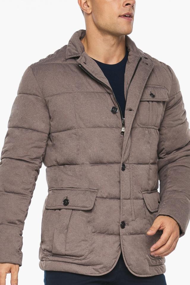 """Куртка – воздуховик с карманами зимний мужской ореховый модель 35230 Braggart """"Angel's Fluff Man"""" фото 9"""