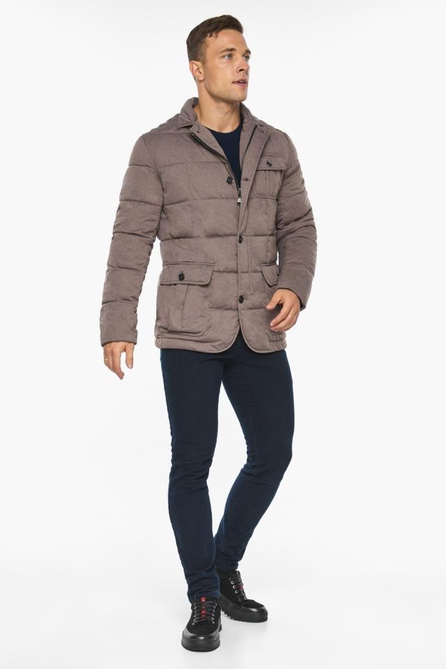 """Куртка – воздуховик с карманами зимний мужской ореховый модель 35230 Braggart """"Angel's Fluff Man"""" фото 7"""