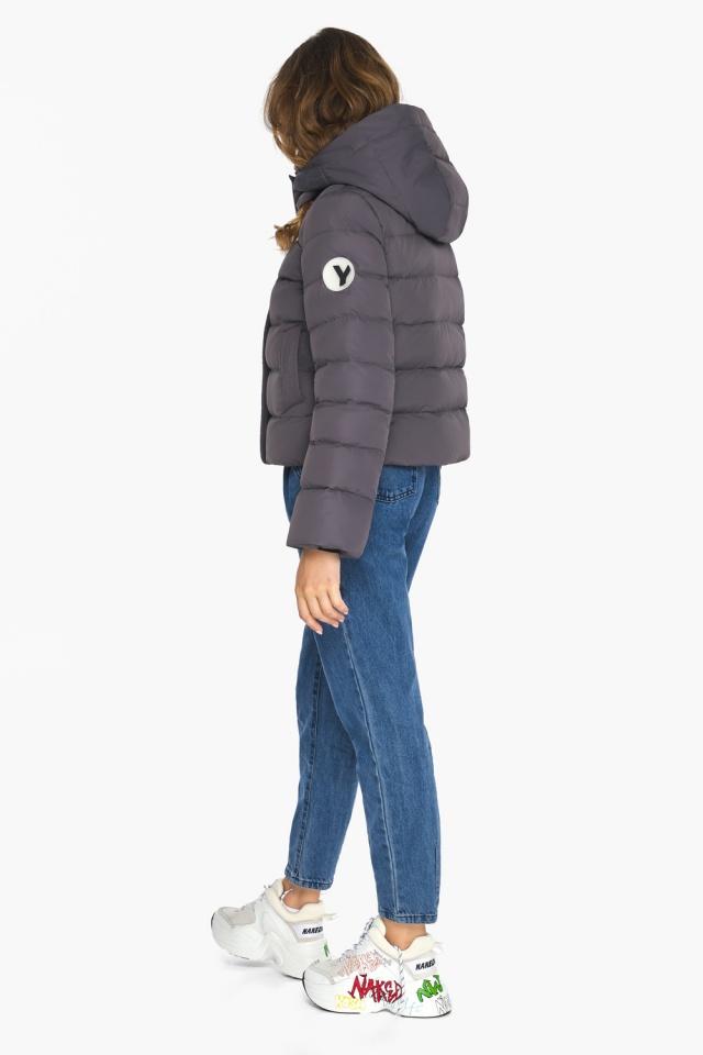 Графитовая подростковая куртка пленяющего образа для девушки модель 21470 Youth фото 5