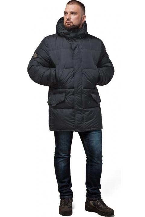 """Мужская графитовая зимняя куртка большого размера модель 3284 Braggart """"Titans"""" фото 1"""