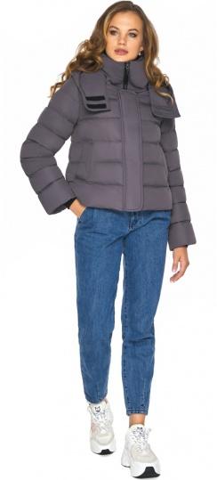 Графитовая куртка на девочку осенняя модель 21470 Youth фото 1