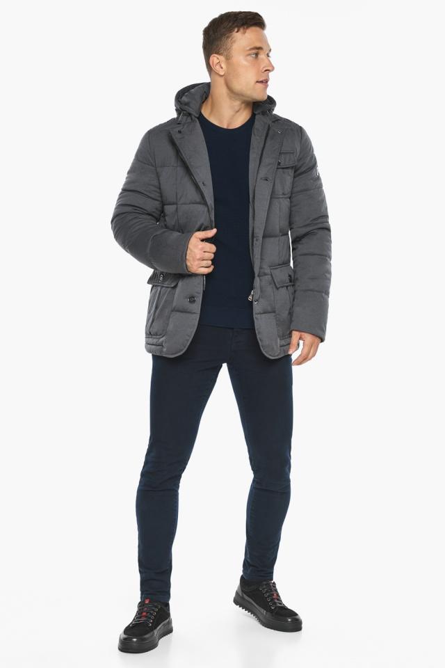 """Куртка – воздуховик зимний фирменный мужской цвет мокрый асфальт модель 35230 Braggart """"Angel's Fluff Man"""" фото 4"""