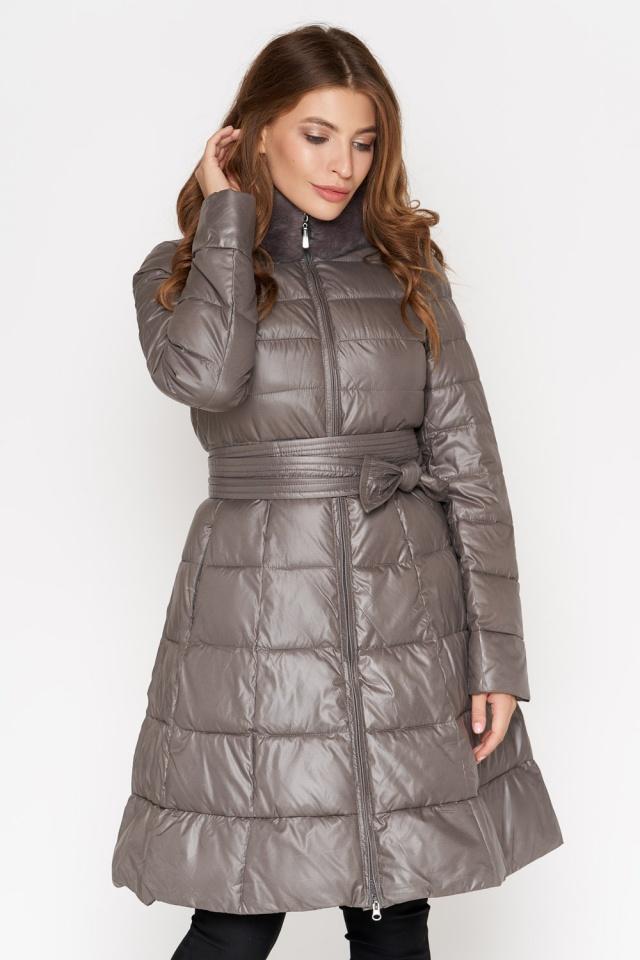 Куртка серая женская на молнии осенне-весенняя модель 7319 Monte Cervino фото 3
