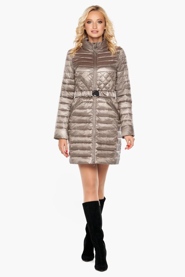 """Осенне-весенняя куртка женская цвет кварцевый модель 39002 Braggart """"Angel's Fluff"""" фото 2"""