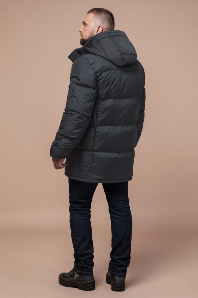 """Мужская графитовая зимняя куртка большого размера модель 3284 Braggart """"Titans"""" фото 4"""