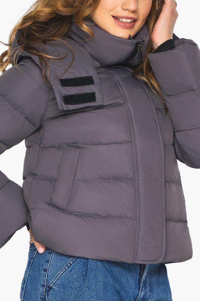 Графитовая подростковая куртка пленяющего образа для девушки модель 21470 Youth фото 6