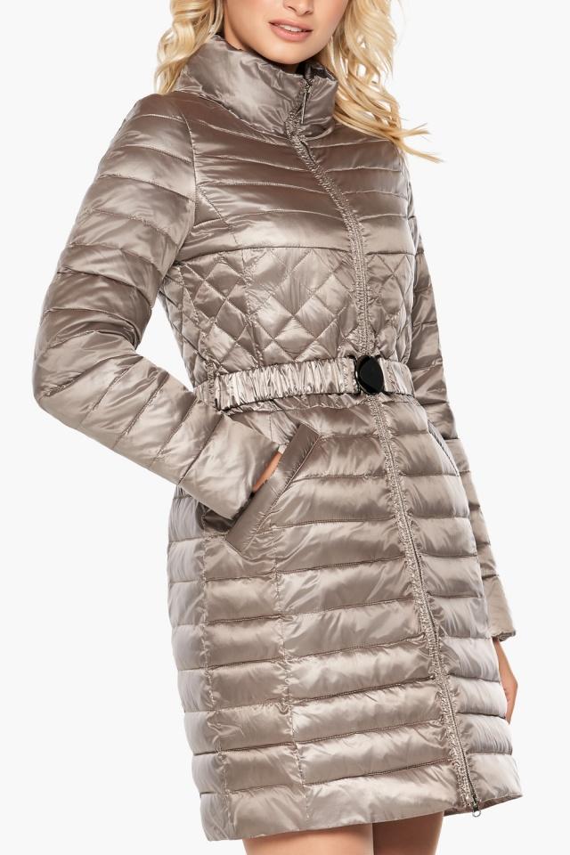 """Осенне-весенняя куртка женская цвет кварцевый модель 39002 Braggart """"Angel's Fluff"""" фото 6"""