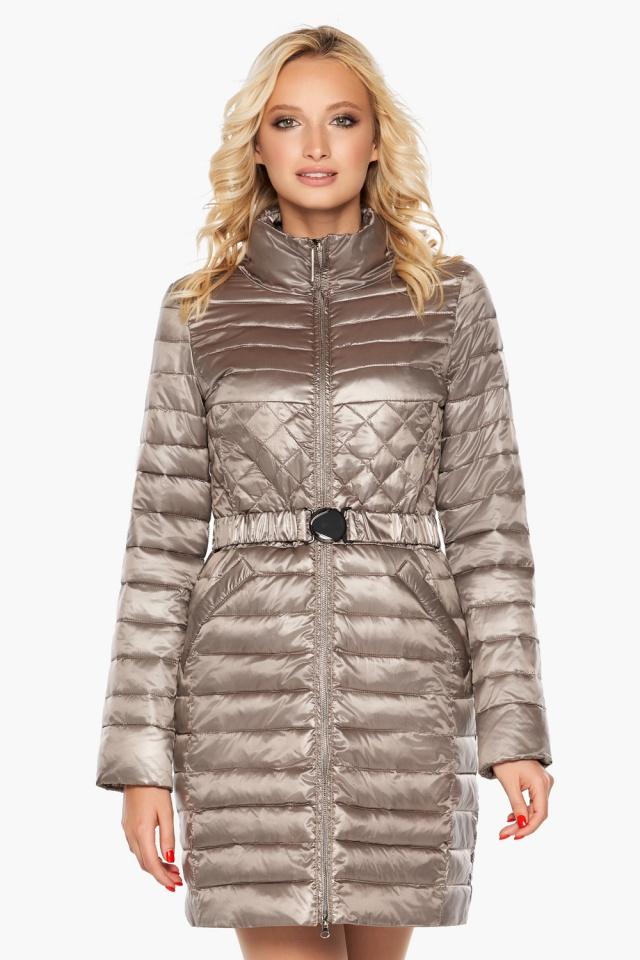 """Осенне-весенняя куртка женская цвет кварцевый модель 39002 Braggart """"Angel's Fluff"""" фото 4"""