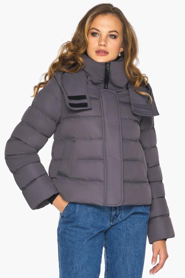 Графитовая подростковая куртка пленяющего образа для девушки модель 21470 Youth фото 4