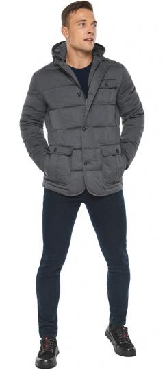 """Куртка – воздуховик зимний фирменный мужской цвет мокрый асфальт модель 35230 Braggart """"Angel's Fluff Man"""" фото 1"""