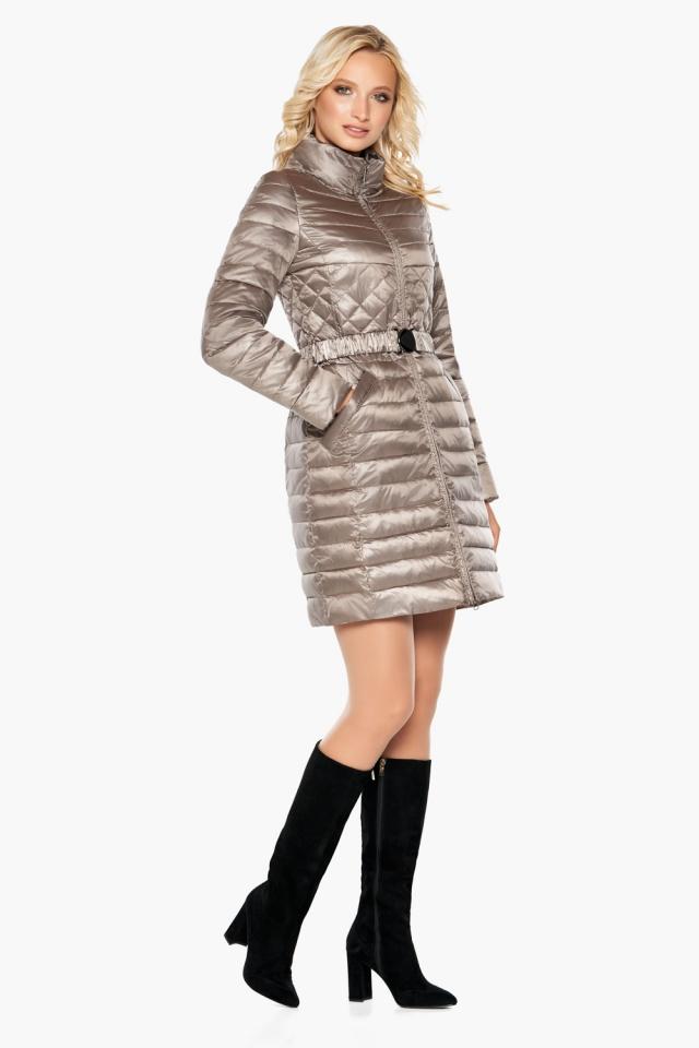 """Осенне-весенняя куртка женская цвет кварцевый модель 39002 Braggart """"Angel's Fluff"""" фото 3"""