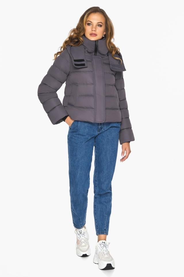 Графитовая подростковая куртка пленяющего образа для девушки модель 21470 Youth фото 2