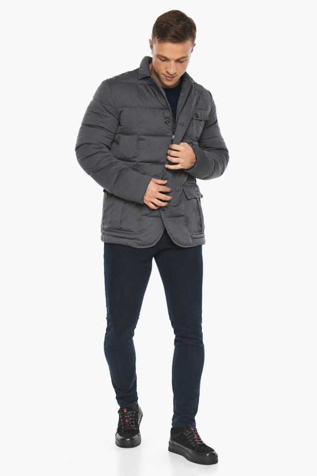 """Куртка – воздуховик зимний фирменный мужской цвет мокрый асфальт модель 35230 Braggart """"Angel's Fluff Man"""" фото 7"""