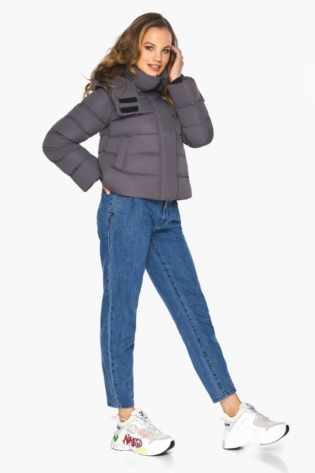 Графитовая подростковая куртка пленяющего образа для девушки модель 21470 Youth фото 3
