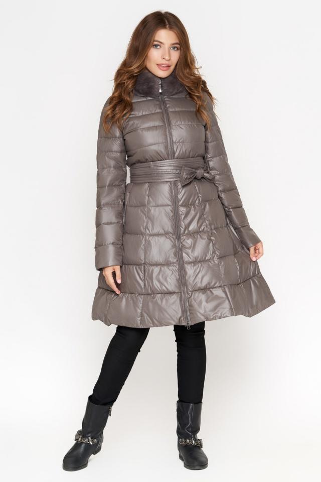 Куртка серая женская на молнии осенне-весенняя модель 7319 Monte Cervino фото 2
