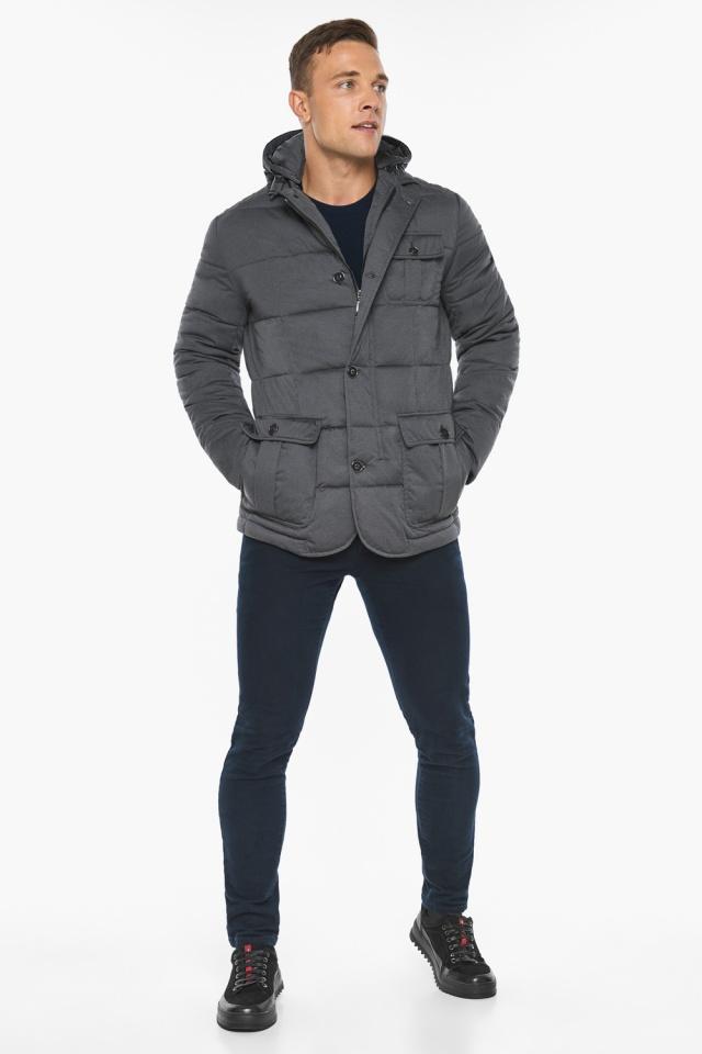 """Куртка – воздуховик зимний фирменный мужской цвет мокрый асфальт модель 35230 Braggart """"Angel's Fluff Man"""" фото 2"""