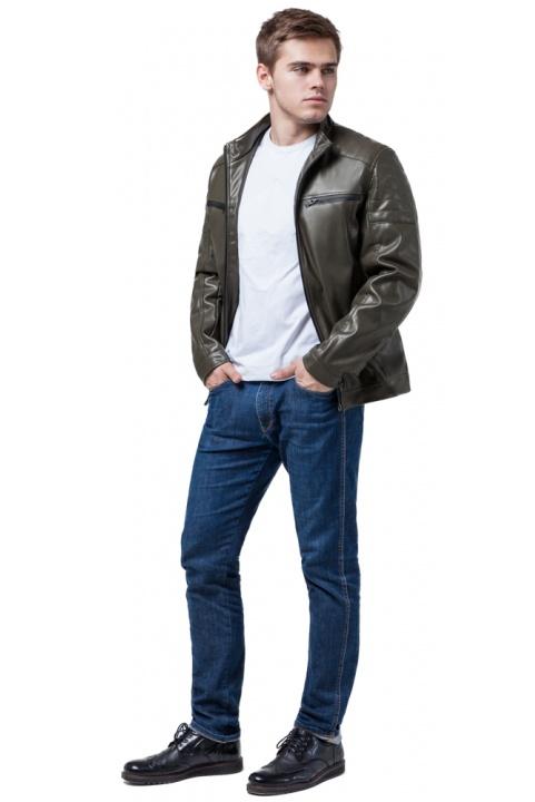 """Куртка коротка осінньо-весняна чоловіча кольору хакі модель 3645 Braggart """"Youth"""" фото 1"""
