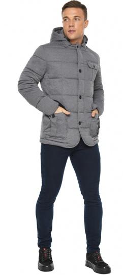"""Куртка – воздуховик модный мужской пепельный зимний модель 35230 Braggart """"Angel's Fluff Man"""" фото 1"""