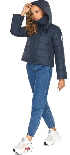 Трендовая куртка на девочку осень темно-синяя модель 21470 Youth фото 1