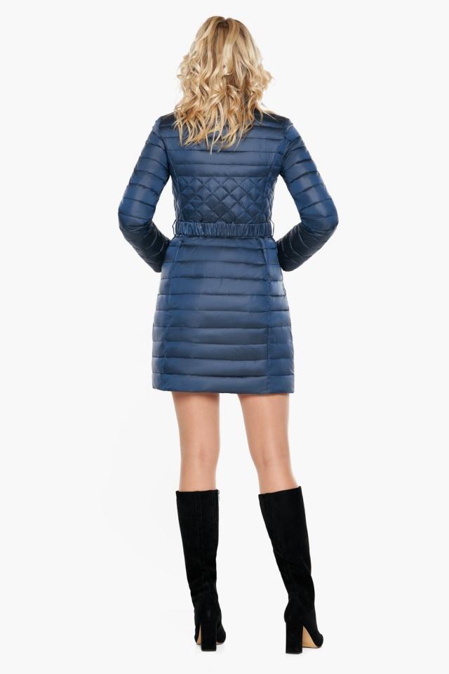 """Женская комфортная куртка осенне-весенняя цвет темная лазурь модель 39002 Braggart """"Angel's Fluff"""" фото 5"""