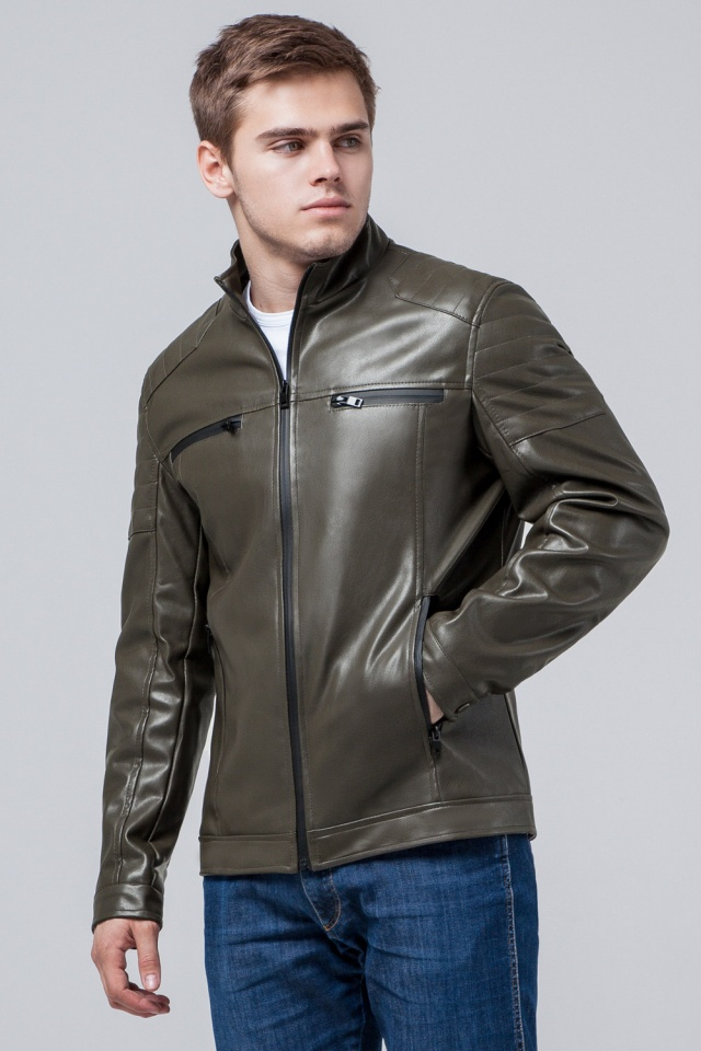 "Куртка короткая осенне-весенняя мужская цвета хаки модель 3645 Braggart ""Youth"" фото 3"