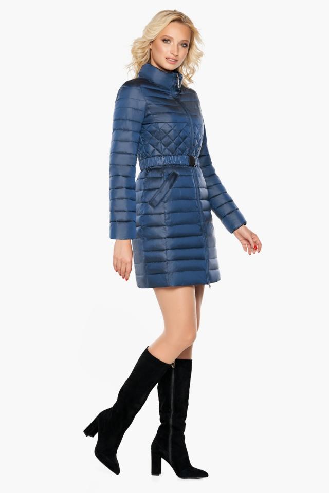 """Женская комфортная куртка осенне-весенняя цвет темная лазурь модель 39002 Braggart """"Angel's Fluff"""" фото 3"""
