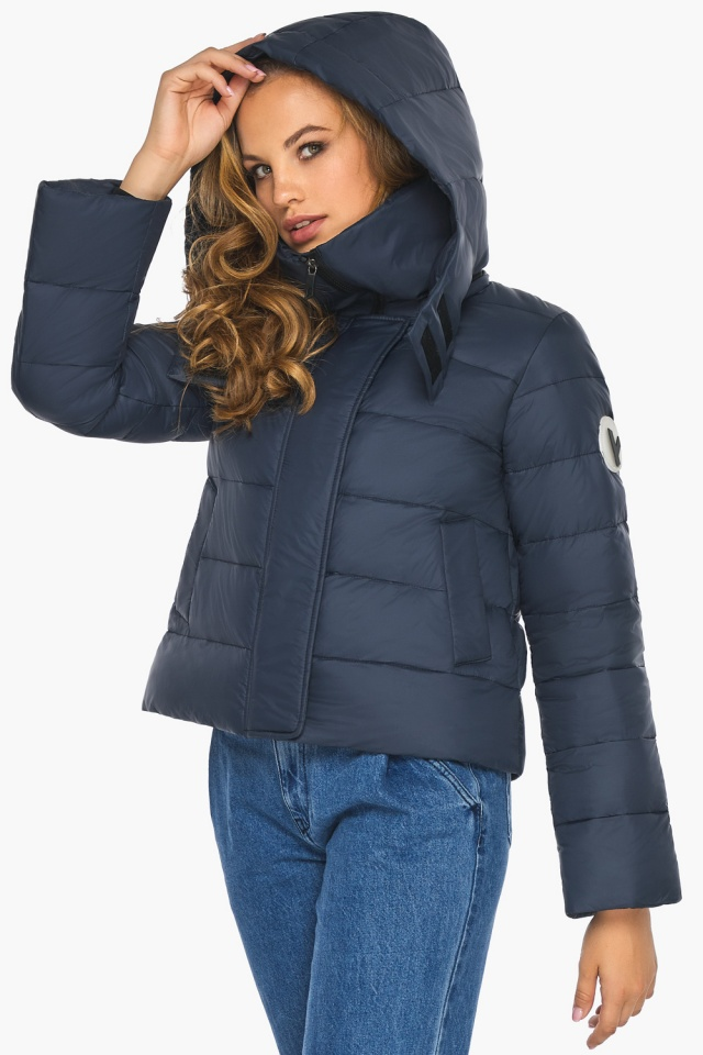 Изысканная и грациозная куртка тёмно-синяя для подростка модель 21470 Youth фото 4