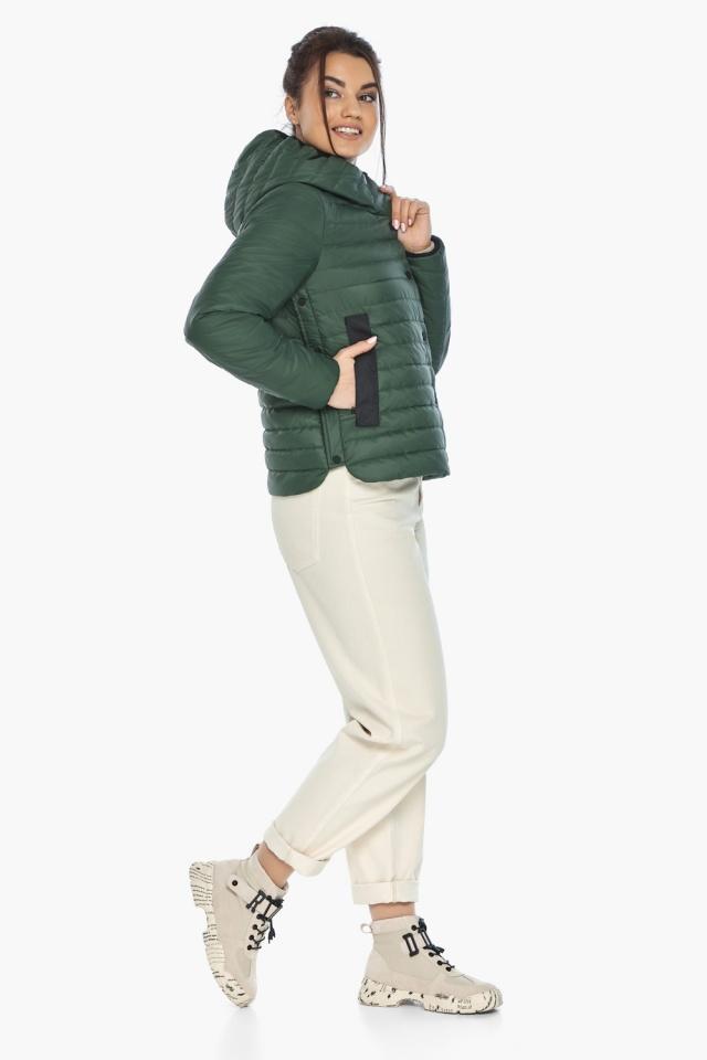 """Люксовая женская нефритовая куртка модель 64150 Braggart """"Angel's Fluff"""" фото 4"""