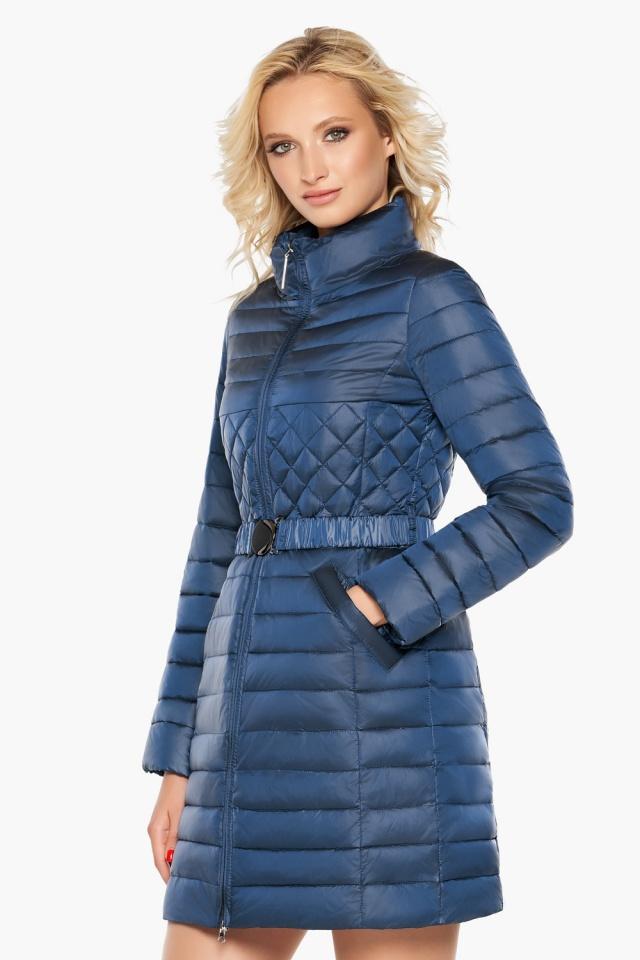 """Женская комфортная куртка осенне-весенняя цвет темная лазурь модель 39002 Braggart """"Angel's Fluff"""" фото 4"""