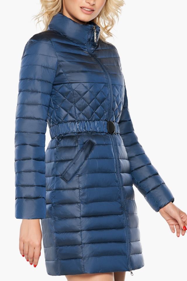 """Женская комфортная куртка осенне-весенняя цвет темная лазурь модель 39002 Braggart """"Angel's Fluff"""" фото 6"""
