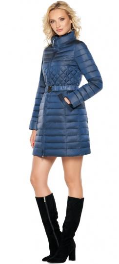 """Женская комфортная куртка осенне-весенняя цвет темная лазурь модель 39002 Braggart """"Angel's Fluff"""" фото 1"""