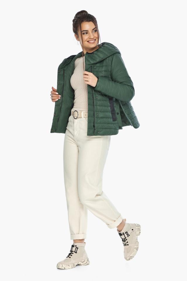 """Люксовая женская нефритовая куртка модель 64150 Braggart """"Angel's Fluff"""" фото 2"""