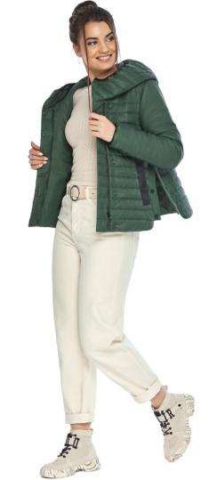 """Люксовая женская нефритовая куртка модель 64150 Braggart """"Angel's Fluff"""" фото 1"""