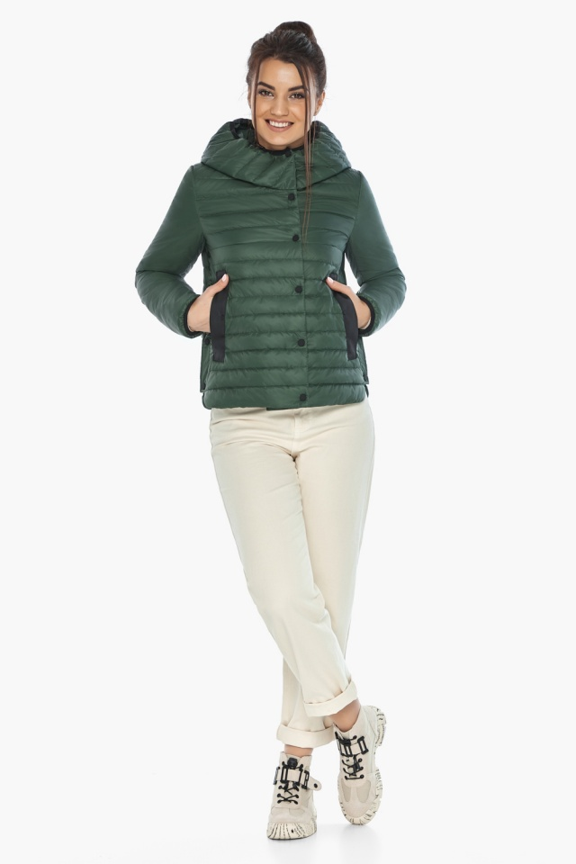 """Люксовая женская нефритовая куртка модель 64150 Braggart """"Angel's Fluff"""" фото 5"""