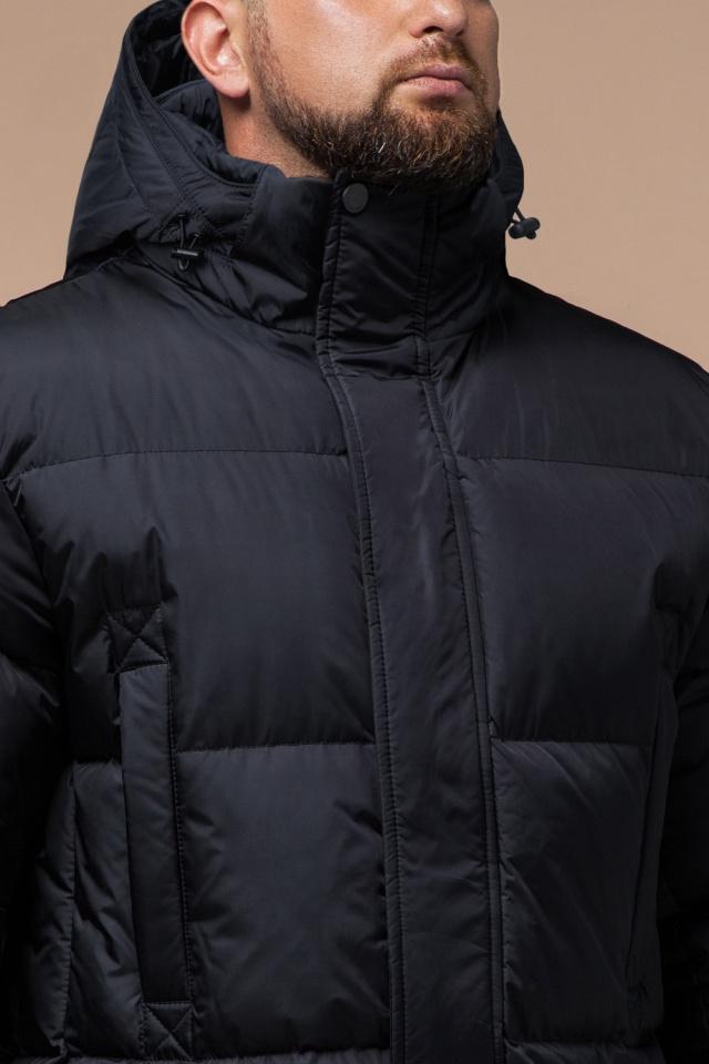 """Удобная мужская куртка большого размера зимняя чёрная модель 3284 Braggart """"Titans"""" фото 5"""