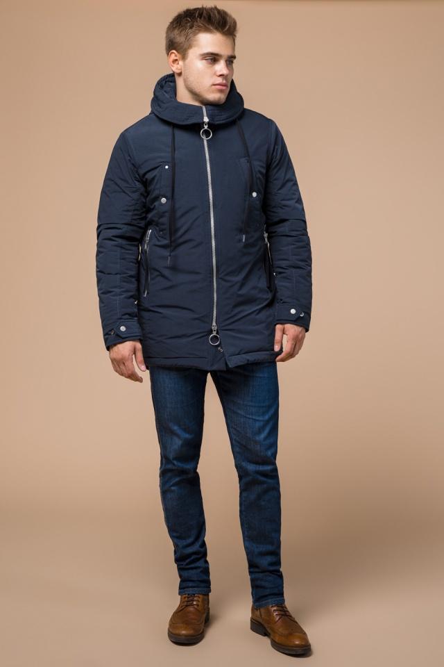 """Парка теплая синяя мужская зимняя модель 28431 Braggart """"Arctic"""" фото 2"""