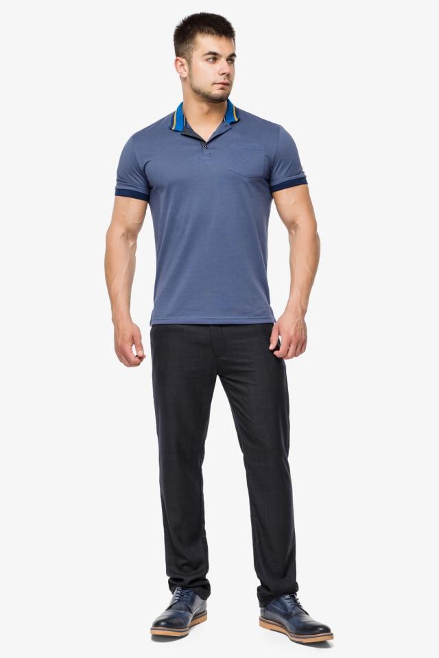 Фирменная футболка поло мужская цвет джинс модель 6422 Braggart фото 2