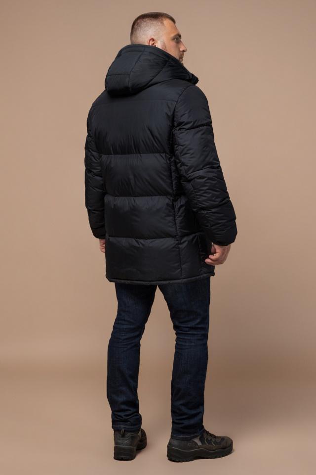 """Удобная мужская куртка большого размера зимняя чёрная модель 3284 Braggart """"Titans"""" фото 4"""