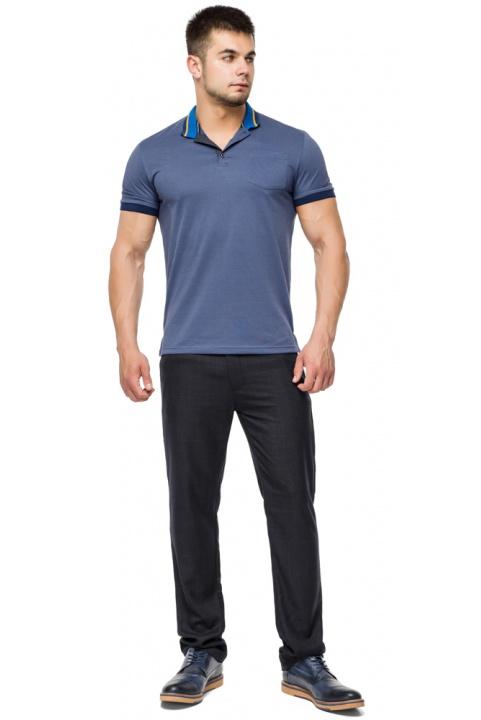 Фірмова футболка поло чоловіча колір джинс модель 6422 Braggart фото 1