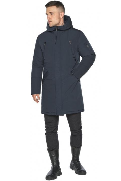 """Куртка – воздуховик оригінального дизайну синій чоловічий зимовий модель 30675 Braggart """"Angel's Fluff Man"""" фото 1"""