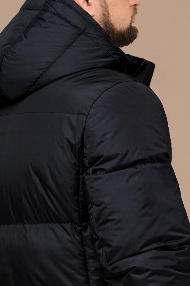 """Удобная мужская куртка большого размера зимняя чёрная модель 3284 Braggart """"Titans"""" фото 6"""