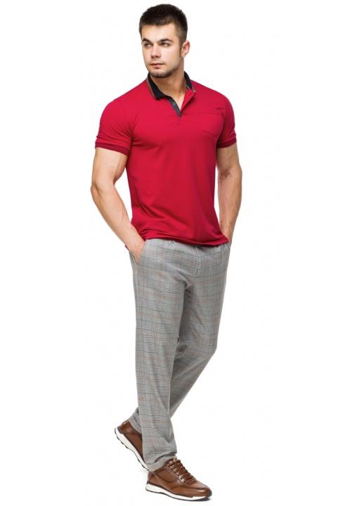 Чоловіча легка футболка поло червоного кольору модель 6422 Braggart фото 1