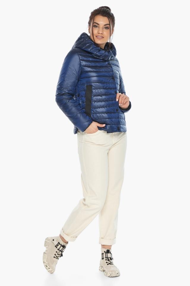 """Практичная женская куртка сапфировая модель 64150 Braggart """"Angel's Fluff"""" фото 2"""