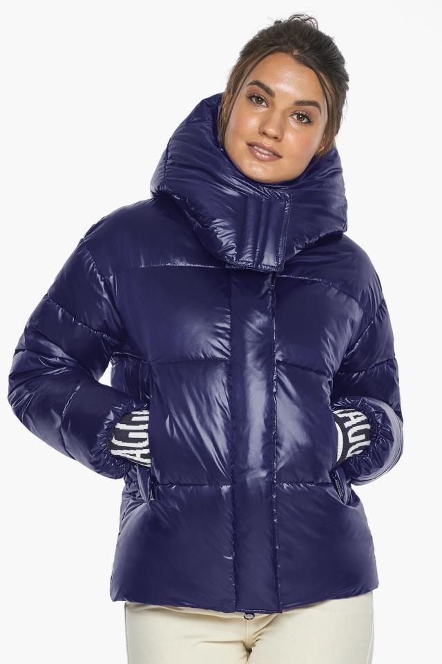 """Куртка синяя брендовая зимняя женская модель 44520 Braggart """"Angel's Fluff"""" фото 6"""