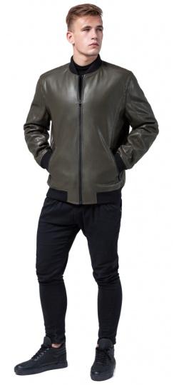 "Куртка цвета хаки осенне-весенняя мужская на змейке модель 4055 Braggart ""Youth"" фото 1"