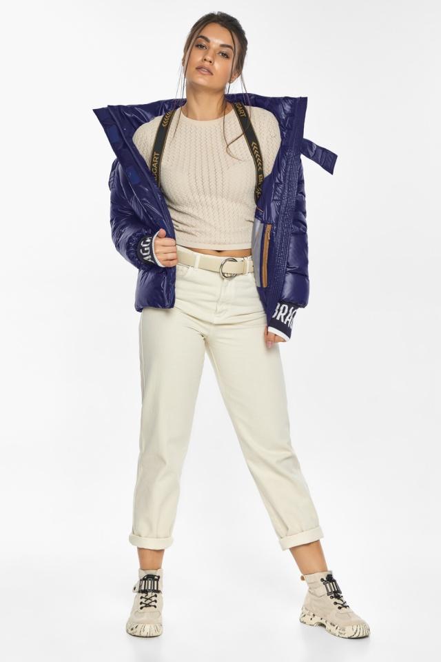 """Куртка синяя брендовая зимняя женская модель 44520 Braggart """"Angel's Fluff"""" фото 7"""