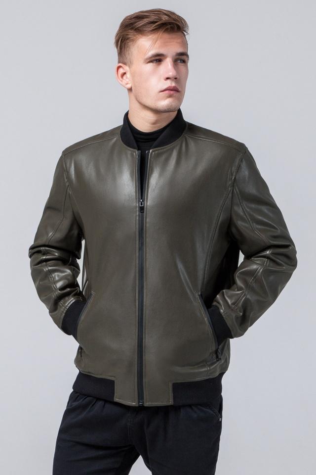 "Куртка цвета хаки осенне-весенняя мужская на змейке модель 4055 Braggart ""Youth"" фото 4"