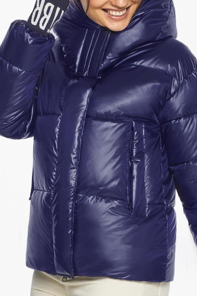 """Куртка синяя брендовая зимняя женская модель 44520 Braggart """"Angel's Fluff"""" фото 9"""