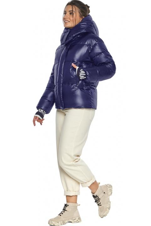 """Куртка синяя брендовая зимняя женская модель 44520 Braggart """"Angel's Fluff"""" фото 1"""